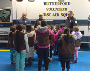 Girls Scouts learning about First Aid